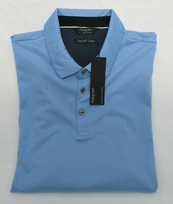 Men's Marks And Spencer Autograph Blue Supima Cotton Polo Shirt Size Xl • 14.99£
