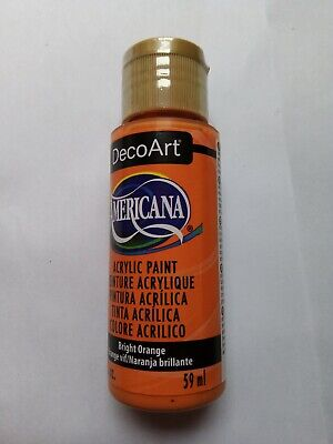 Bright Orange Americana Acrylic Paint By DecoArt Size 59ml 2fl.oz • 2.80£