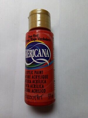 True Red Americana Acrylic Paint By DecoArt Size 59ml 2fl.oz • 2.80£