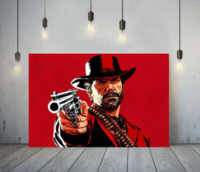 Red Dead Redemption Ii 1 -deep Framed Canvas Game Wall Art Picture Paper Print- • 14.99£