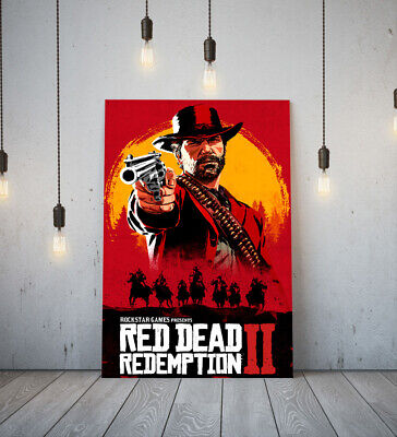 Red Dead Redemption Ii 2 -deep Framed Canvas Game Wall Art Picture Paper Print- • 14.99£