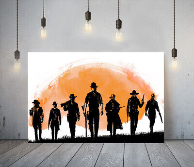 Red Dead Redemption Ii 5 -deep Framed Canvas Game Wall Art Picture Paper Print • 11.99£