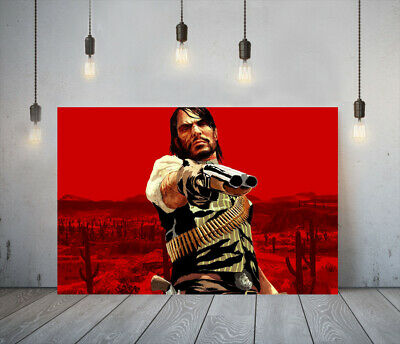 Red Dead Redemption I -deep Framed Canvas Game Wall Art Picture Paper Print • 11.99£
