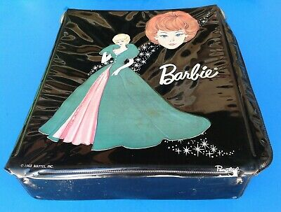 $ CDN13.56 • Buy Vintage BARBIE BLACK VINYL SINGLE CARRYING CASE 1960's Original
