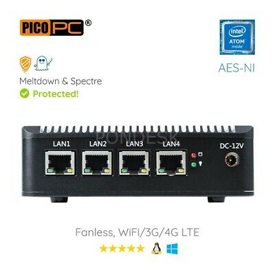 Intel Atom® E3845 1.91GHz Processor 8GB RAM/32G SSD Fanless PfSense Firewall • 269.94£