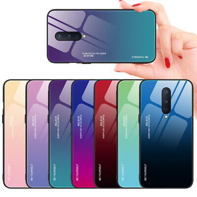 $ CDN4.95 • Buy For OnePlus 8 Pro 7 7T 7 Pro Gradient Color Back Tempered Glass Case Cover