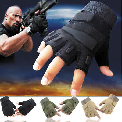$9.99 • Buy Military Half Finger Fingerless Tactical Airsoft Hunting Riding Cycling Gloves