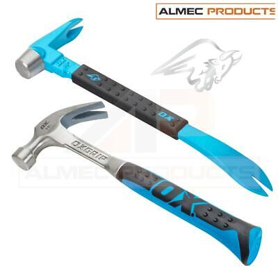OX Tools PRO 16oz Claw Hammer & 10  Crow Bar Twin Pack Set OX-P086202 • 32.99£