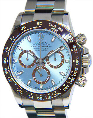 $ CDN29862.60 • Buy Rolex Daytona Chronograph Steel Blue Dial Brown Ceramic Bezel Mens Watch 116520