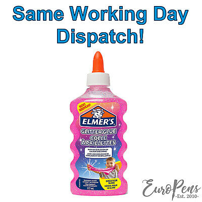 AU12.65 • Buy Elmers Pink Glitter Liquid PVA Glue, Washable - Great For Slime! - 177ml