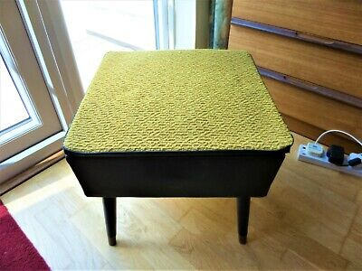 £25 • Buy Retro Vintage Sewing Stool With Contents, 1950/1960's
