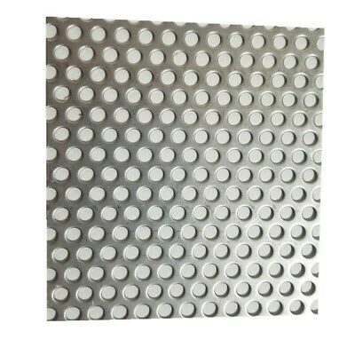 £16.71 • Buy 5mm Hole X 8mm Pitch X 1mm Thick 304 Stainless Steel Perforated Mesh Sheet DIY