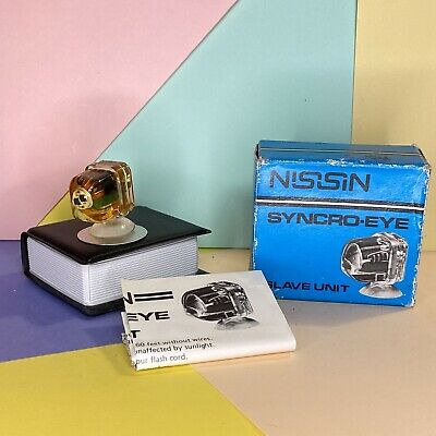 NISSIN SYNCRO EYE UNIT For OFF CAMERA SLAVE FLASH! New Old Stock • 12£