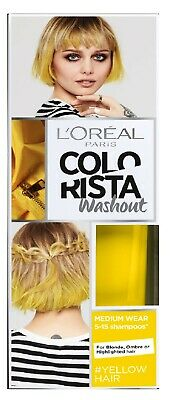 L'oreal Colorista Washout Semi-Permanent Hair Colour Yellow Neon 018 80ml - New • 5.99£