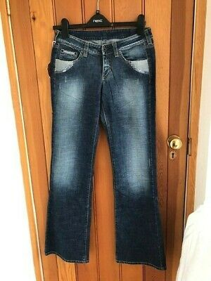 £32.99 • Buy Replay Funky Stud Distressed Blue Washed Jeans Patch 38 Kids Bnwt