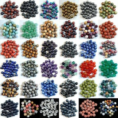 $ CDN1.78 • Buy Natural Gemstone Round Spacer Loose Beads 4mm 6mm 8mm 10mm Wholesale Assorted