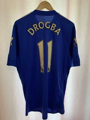 Chelsea London 2009/2010 Home Football Shirt Jersey Size L Didier Drogba #11 • 69.99£