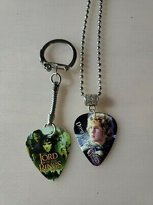 $ CDN9.99 • Buy Handmade Merry Guitar Pick Necklace And Keychain Set