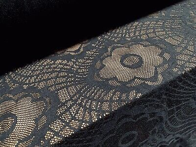 Black Stretch Crochet Lace Dress Fabric, Per Metre • 4.10£