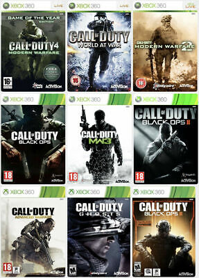 £7.99 • Buy Call Of Duty Xbox 360 Assorted Bundle Same Day Dispatch 1st Class Super Fast Del