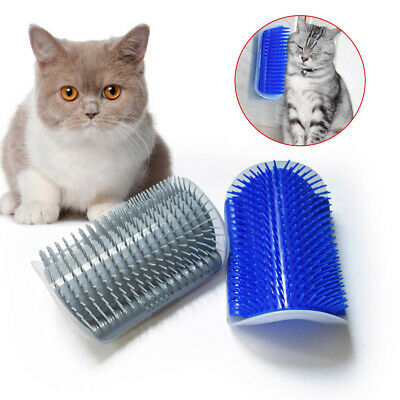AU12.85 • Buy Cat Self Massage Scratcher Brush Comb Wall Corner Cat Scratching Post Kitten Toy