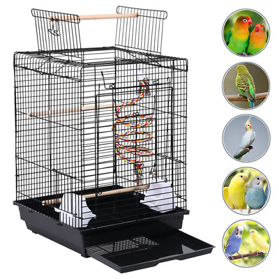 £23.99 • Buy Open Top Bird Cage For Small Birds Canary Parakeet Cockatiel Budgie 58cm High