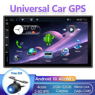 AU169.99 • Buy 7'' Android 10.0 Double 2 DIN GPS Car Stereo Head Unit FM/AM Player WiFi DAB+32G