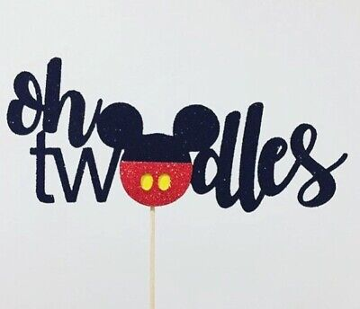 AU16.50 • Buy Mickey Mouse Oh Twodles Cake Topper 2nd Two  Birthday