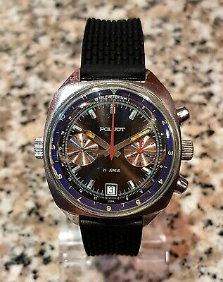 POLJOT Sturmanskie 3133 Vintage Russian Soviet Watch USSR Chronograph BLACK • 300£
