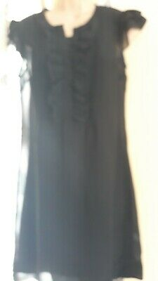 Topshop Black Dress With Cami Size 10 • 3£