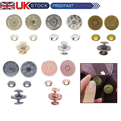 Magnetic Snaps Double Rivet Clasps Closures For Purses Jackets Crafts 14/18mm  • 2.75£