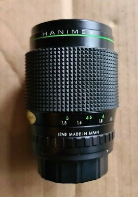 Hanimex HMC Camera Lens Automatic MC 135mm 1:2.8 No.772154 With Both Caps/ Case • 9.99£