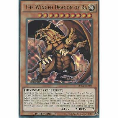 LDK2-ENS03 The Winged Dragon Of Ra | Ultra Rare YuGiOh Egyptian God Card Lim Ed • 4.95£