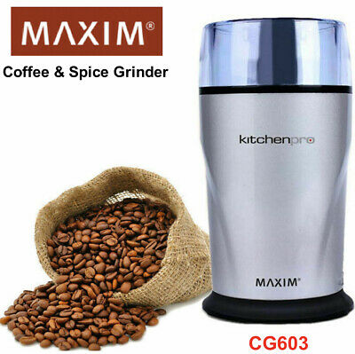 AU32.99 • Buy Maxim 130W Electric Coffee Bean Herbs Spices Nuts Grinder Grinding Mill CG603