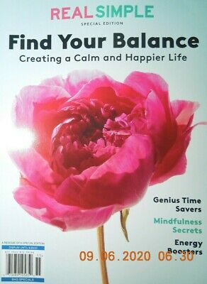 $9.99 • Buy FIND YOUR BALANCE Real Simple CREATING A CALM & HAPPIER LIFE Mindfulness Secrets