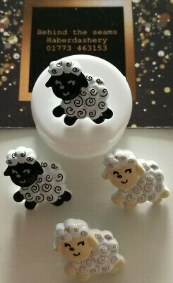 Black Sheep Buttons Shank Size 20mm Novelty  Baby / Children - Pack Of 5 Or 10   • 2.95£