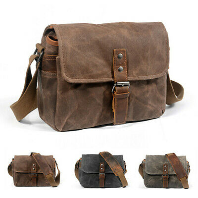$ CDN52.75 • Buy Retro Canvas Leather Waterproof Camera Case Bag Photography Bags For Sony Pentax