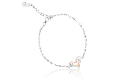 NEW Welsh Clogau Silver & Rose Gold Always In My Heart Bracelet 19cm £30 OFF! • 79£