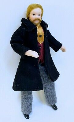 $ CDN31.56 • Buy Dollhouse Miniature Pose-able Porcelain Victorian  Male Doll