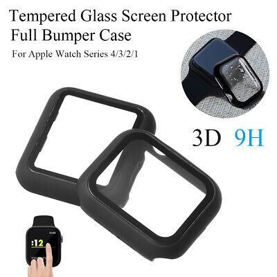 $ CDN11.86 • Buy Case Tempered Glass Screen Protector Watch Frame For Apple Watch Series 4/3/2/1