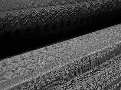 Black Stretch Crochet Jersey Dress Fabric, Per Metre • 5.99£