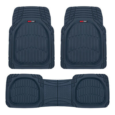 $37.90 • Buy Cobalt Blue Deep Dish Rubber Car Floor Mats For Auto 3pc All Weather Liners