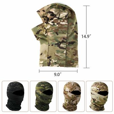 $7.99 • Buy Military Camo Balaclava Face Cover Cycling CS Wargame Hunting Ski Scarf For Men