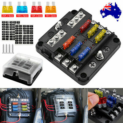 AU21.95 • Buy 19Pcs 6 Way Auto Blade Fuse Box Holder Block Panel 32V Car Power Distribution AU