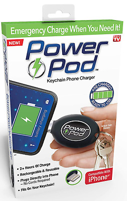 AU28.39 • Buy Power Pod◉AS SEEN ON TV◉Keychain IPhone Apple Charger◉USB Rechargeable◉Emergency
