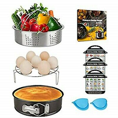 $23.99 • Buy Accessories Set For 6,8 Quart Instant Pot With Steamer Basket, Springform Pan (6