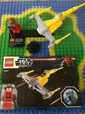 Lego Star Wars 9674 Naboo Starfighter Pilot And Ship Manual ,no Planet • 8.99£