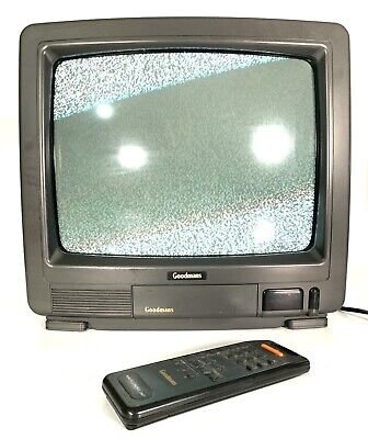 Retro Goodmans 14 Inch CRT TV Aerial Connection Gaming Monitor 1404 With Remote • 39.99£