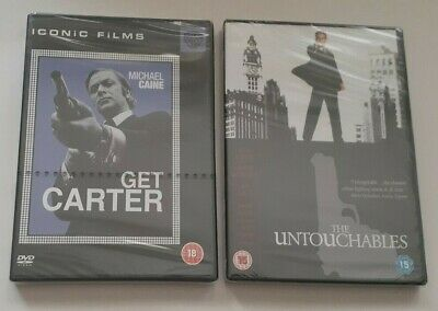 Get Carter And The Untouchables DVDs Michael Caine Kevin Costner      NEW • 9£