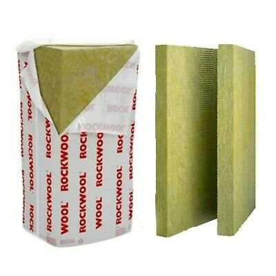 £38.99 • Buy ROCKWOOL RWA45 50mm 75mm 100mm ACOUSTIC SOUND INSULATION- 1 TO 4 PACK DEAL